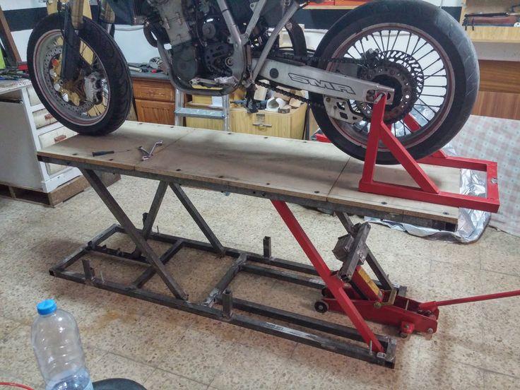 Motorcycle Work Lift : Madeathomestuff homemade bike lift metalwork