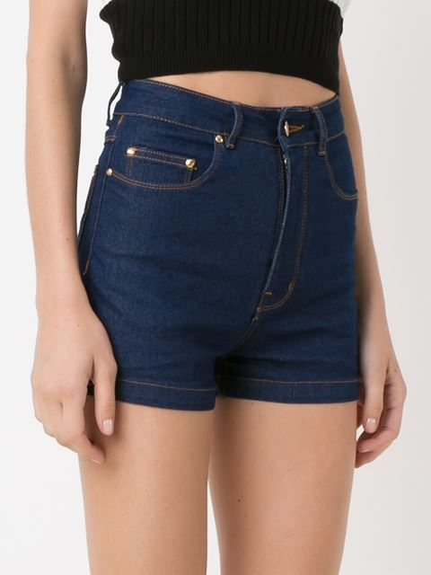 Amapô Short jeans cintura alta