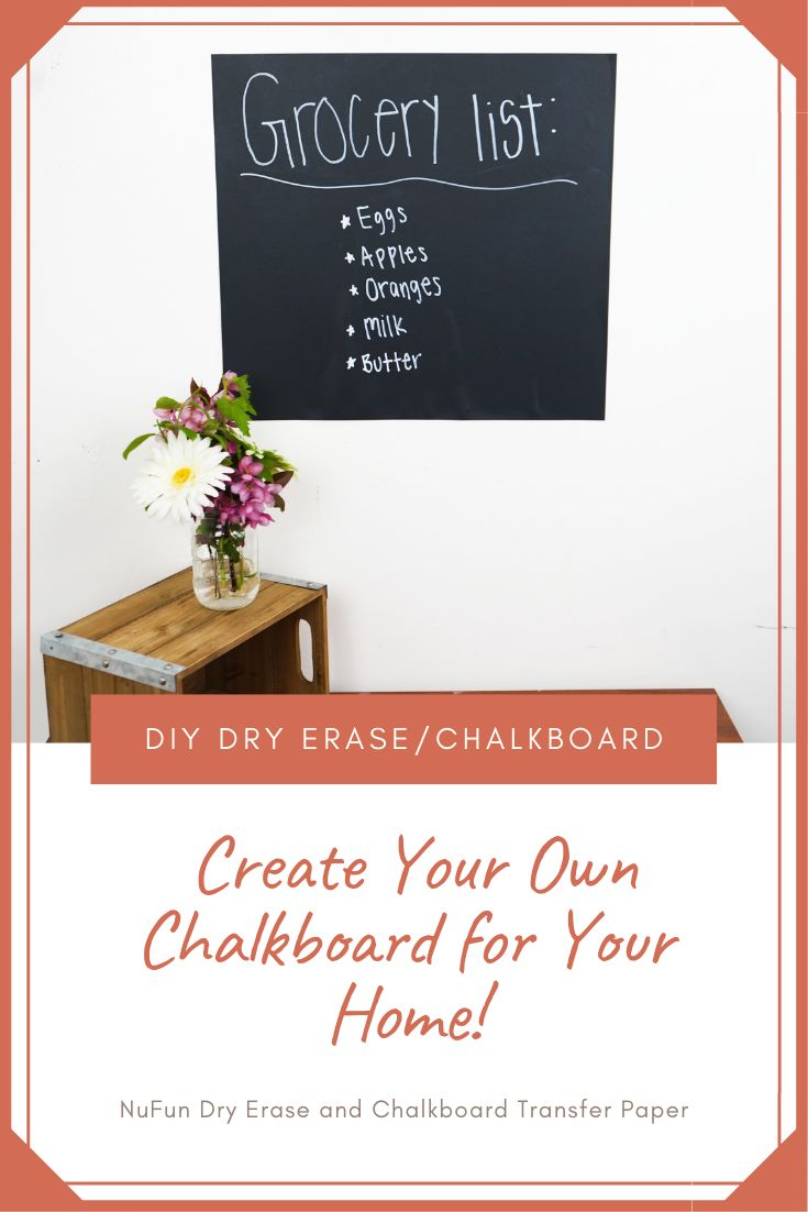 Create your own chalkboard using nufuns dry erase