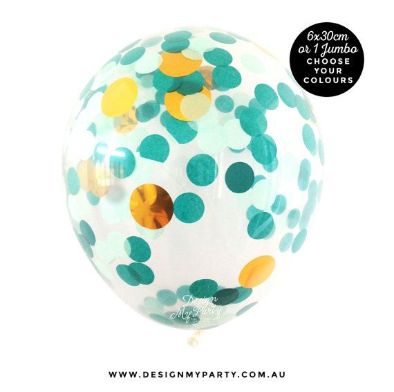 Mermaid Glam Confetti Balloons 30cm  Pack of by DesignMyPartyShop