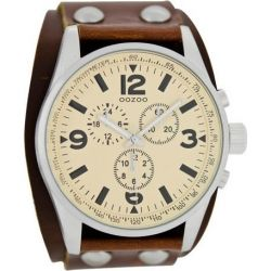 OOZOO Timepieces Brown Leather Strap C6441