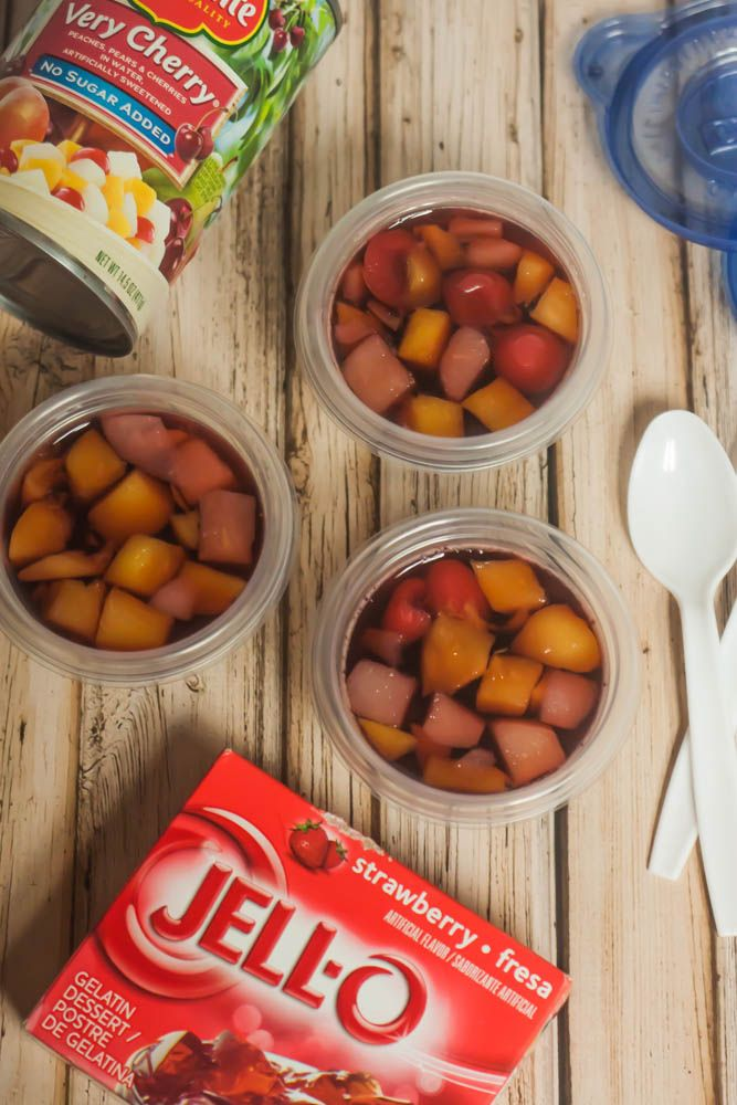 Homemade Fruit-n-Jello Cups (Great for kids' snacks and/or lunches!)