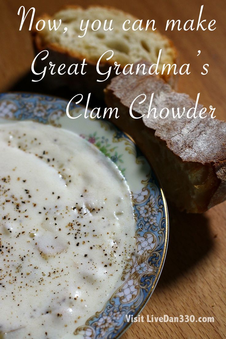 Great Grandma's Clam Chowder #soup #recipe #grandma