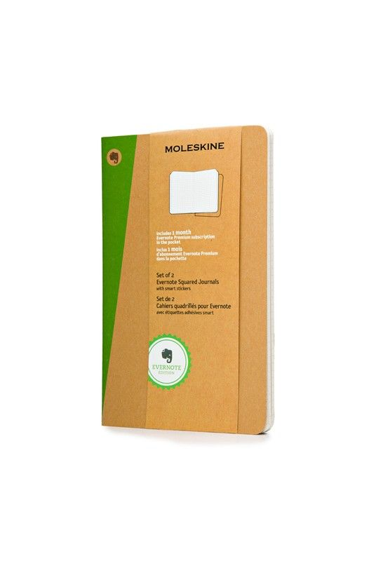 Buy Moleskine Evernote Cahier Journal - Large (13x21cm) - Squared - NoteMaker Stationery