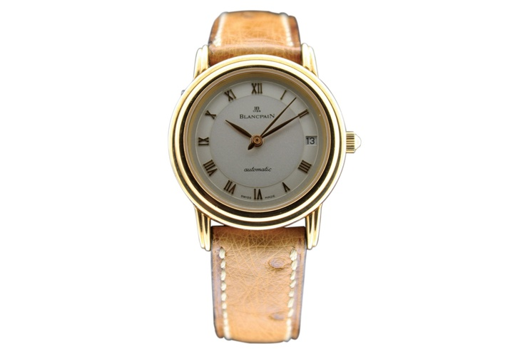 Buy a Blancpain, Ref. 170. Yellow gold lady's wristwatch with cream dial watch in Classifieds on Presentwatch