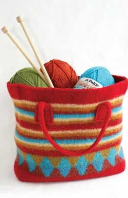 Free Knitting Pattern - Bags, Purses & Totes: Shopping Bag