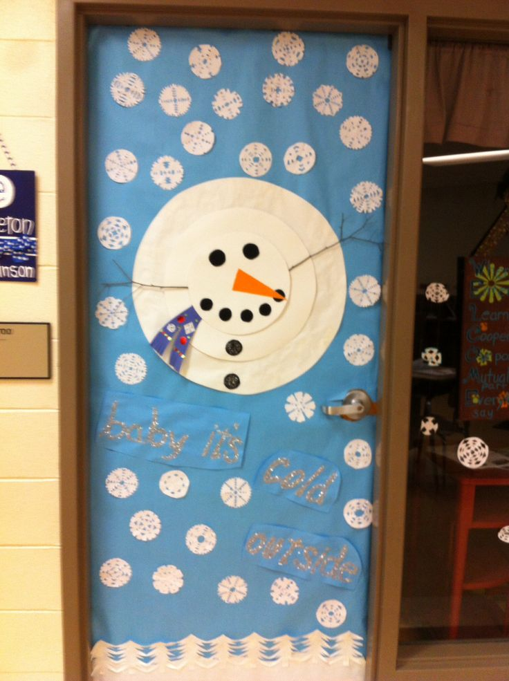 Diy Christmas Classroom Decorations : Best winter door ideas images on pinterest