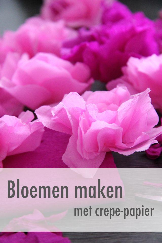 bloemen-met-crepe-papier-maken