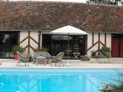 Piscine des Chambres d'hôtes à vendre entre Caen et Lisieux dans le Calvados