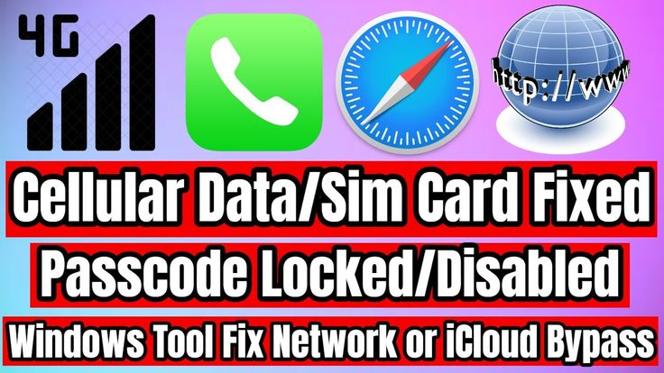 Icloud bypass fix sim cardcellular data windows tool