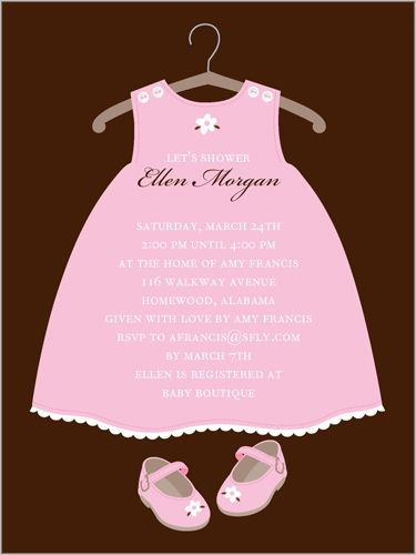 Twinkle Toes Baby Shower Invitation