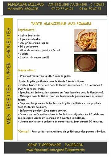 tarte alsacienne aux pommes - Tupperware