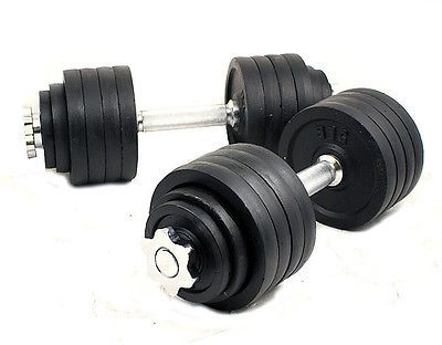 New one pair 200 Lbs Adjustable Weights Dumbbells Fitness 100 lbs x 2pcs