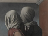'The Lovers II' by René Magritte (Belgian, 1898–1967).    The LOVE is blind??