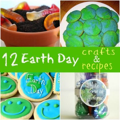 12 Outta this World Earth Day Crafts and Recipes #EarthDay