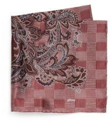 $190, Brioni Medallion Print Silk Pocket Square. Sold by Saks Fifth Avenue. Click for more info: https://lookastic.com/men/shop_items/144554/redirect
