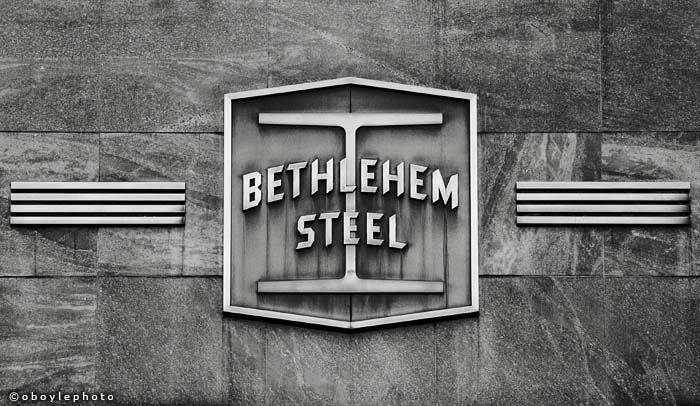Bethlehem Steel, Bethlehem, PA - Love the logo with the I section steel beam