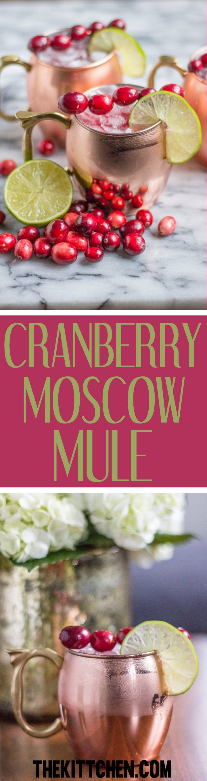 Cranberry Moscow Mule Recipe This Cranberry Moscow Mule Is Perfectly On Trend And Fes In 2020 Holiday Drinks Alcohol Holiday Drinks Christmas Winter Drinks Alcoholic
