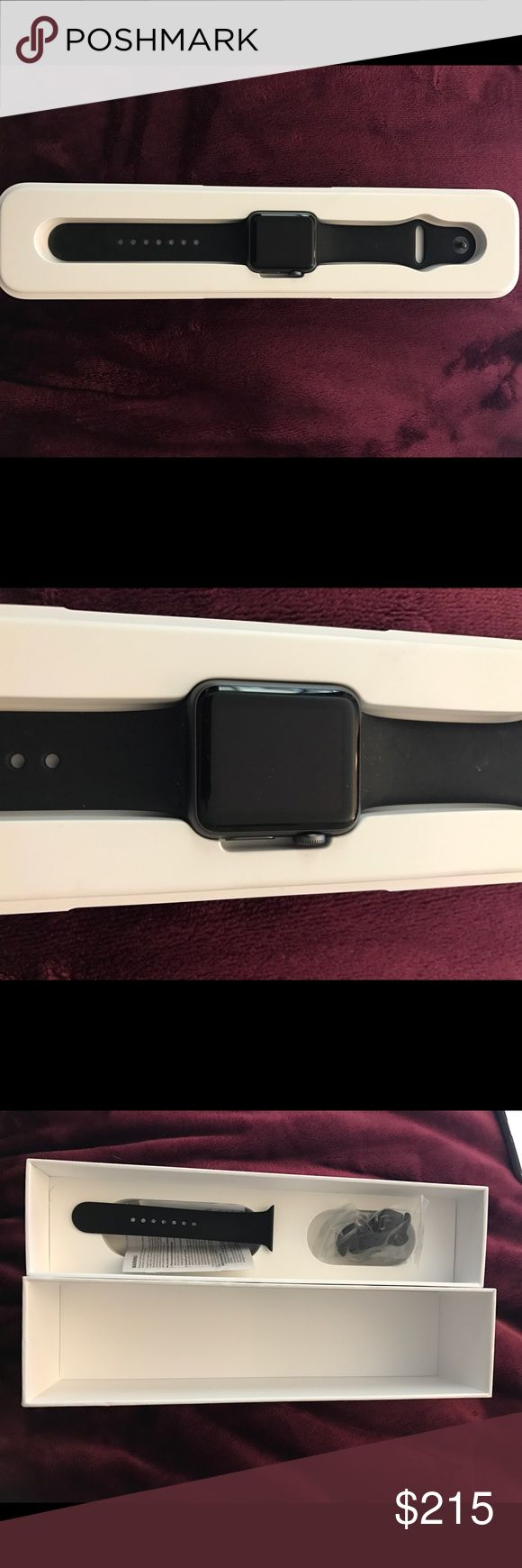 Apple Watch series 1 space grey 38mm Apple Watch series 1 space grey 38mm, very minor cosmetic damage, comes with charger and original case with extra band, only wore for 6 months, in great condition apple Accessories Watches