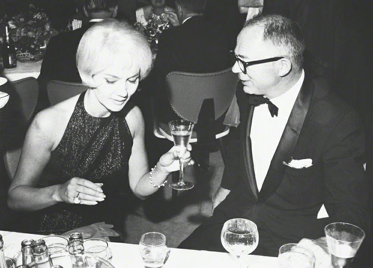 1961 - Liselotte Pulver and Billy Wilder at the Berlin Film Festival