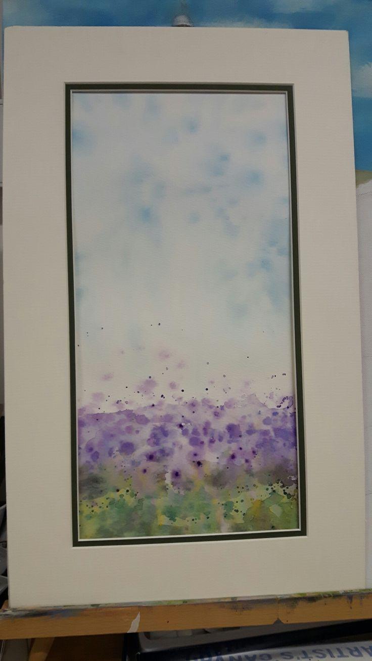 """Impressionist watercolour """"lavender"""""""