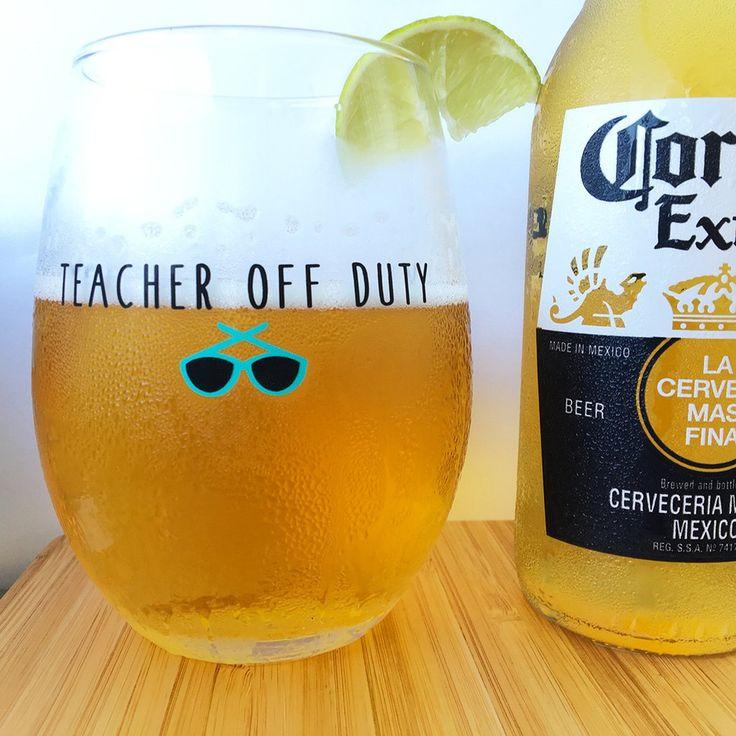 """Teacher Off Duty"" Stemless Wine Glass – Bored Teachers"