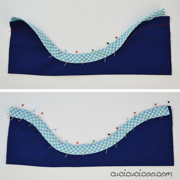 Il modo migliore per profilare! Il tutorial mostra come cucire lo sbieco sui bordi, che siano dritti oppure curvi, con un trucco per cucirlo perfettamente!