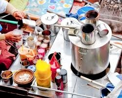 Thai tea and coffee, street food, Thailand