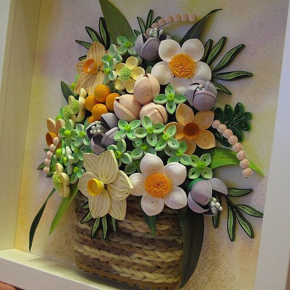 Original Paper Quilling Wall Art - The Summer Basket - original gift for any person