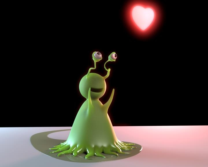Malbory  #3DModel #Animation #Houdini #Love #Alien #Cute
