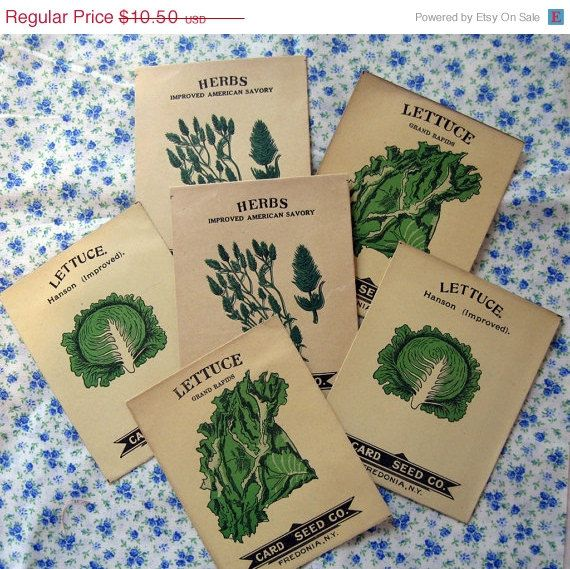40% OFF 1900s seed packets / vintage antique seed packets