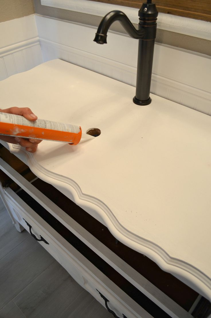 Dresser Converted to Bathroom Vanity                                                                                                                                                                                 More
