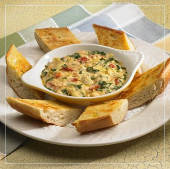 Spinach and Artichoke Dip - made with three different types of cheeses #recipe
