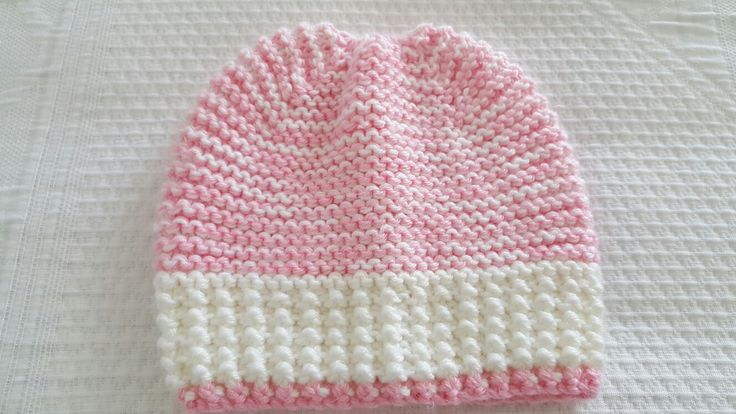 Baby beanie 6 month old - double yarn Patons Dreamtime