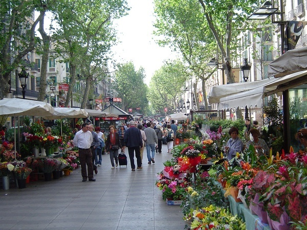 Las Ramblas in Barcelona. http://bit.ly/HiWRzTTapas, Flower Marketing, Favorite Places, Dreams, Beautiful Places, Living Room, Wadi, Barcelona Spain, The Ramblas