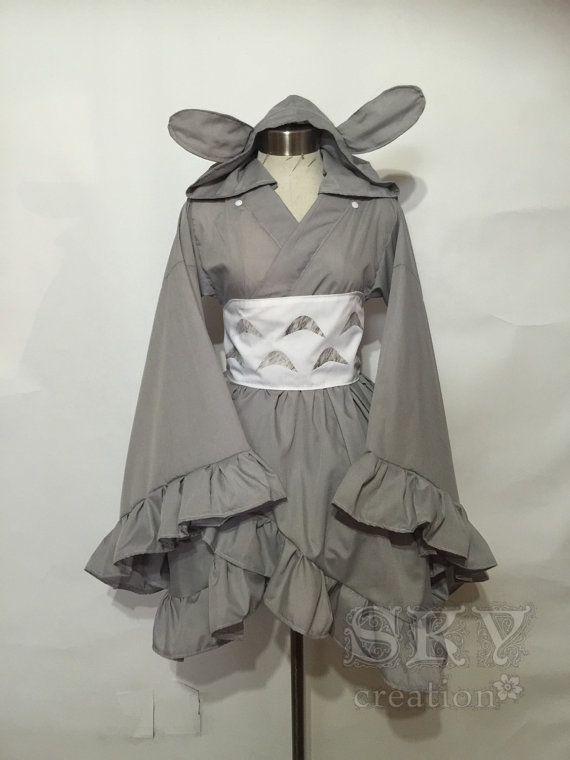 Totoro Kimono Dress by skycreation on Etsy
