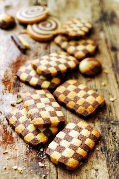 Galletas de ajedrez rectangulares