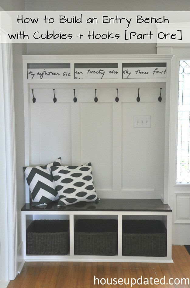 Custom Faux Built-In Entryway Storage