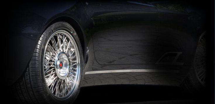 Borrani X-Ray wire wheel on a Maserati