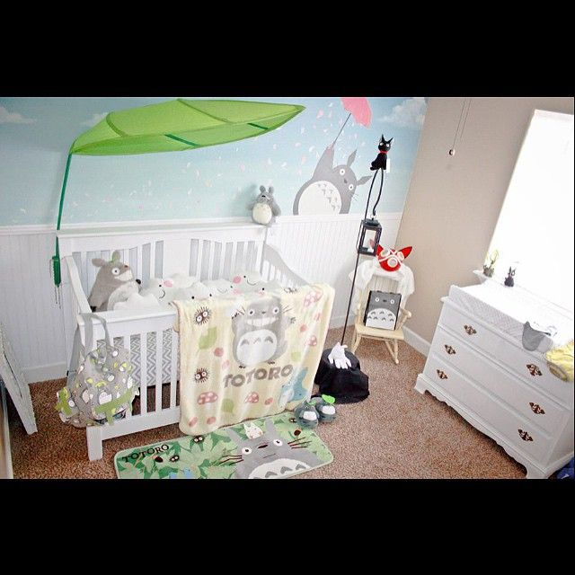 Studio ghibli totoro themed nursery  #StudioGhibli #Nursery #Totoro #Maternity #BabyRoom #Newborn #Anime