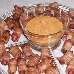 Bacon Wrapped Brown Sugar Smokies Dipping Sauce Recipe - making these for