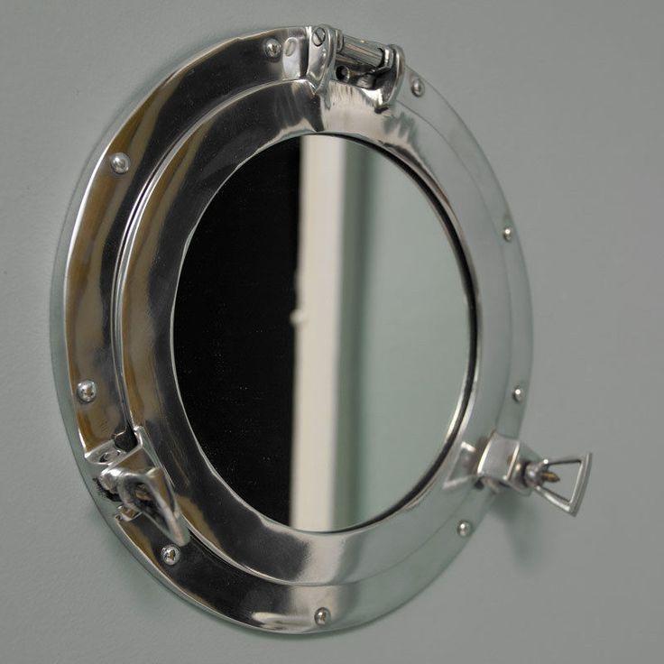 silver metal port hole round mirror bathroom nautical shabby vintage chic gift ebay