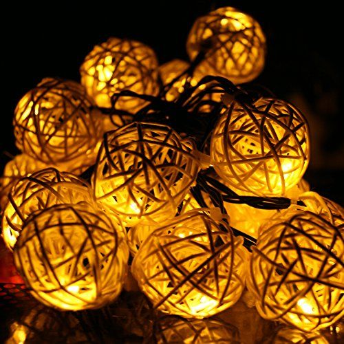 E Light 20 Globe String Lights Solar Powered For Christmas, Outdoor, Patio,