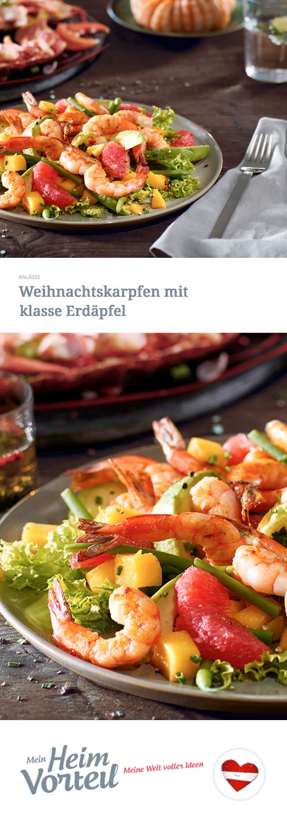 Die besten Feiern finden immer in der Küche statt, richtig? Also bittest du deine drei Gäste gleich nach der Begrüßung direkt dahin und lässt dir bei der Vorbereitung dieser köstlichen Vorspeise helfen. #christmas #weihnachten #hauptspeise #salat #garnelen #food #rezept #recipe #deluxe #idee #idea