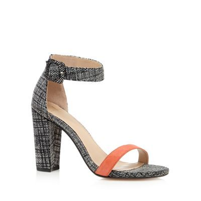 J by Jasper Conran Designer coral leather snake high sandals- at Debenhams.com