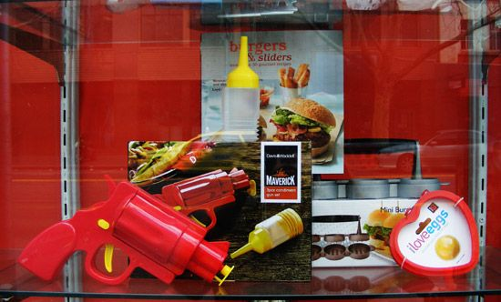 Fathers' Day kitchenware display for London and American Supply Stores, Melbourne.