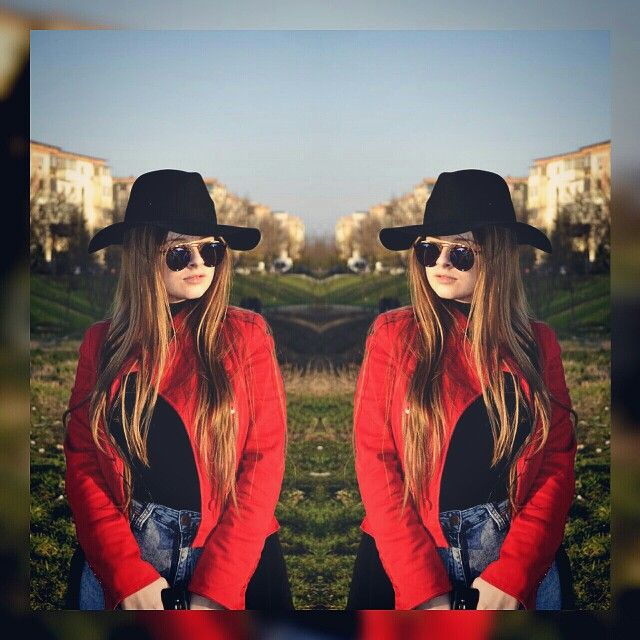 #streetstyle #outfit #black #red #hat #blonde