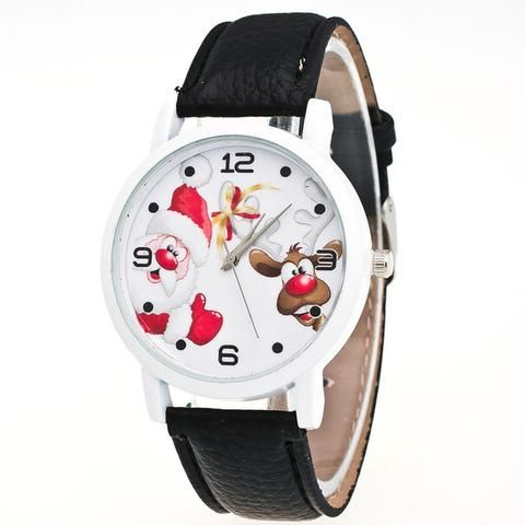 Christmas decorated leather watch #christmas #christmaswatch #kidswatch #christmaswatch