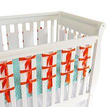 Oliver B Ventilated Slat Bumper 20-Pack - White/Orange Ties