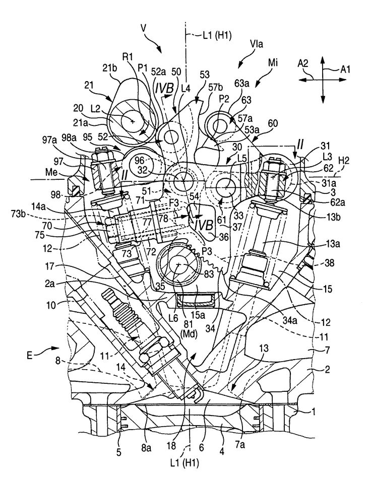 Valve Train Of Internal Combustion Engine Schematic Engineering